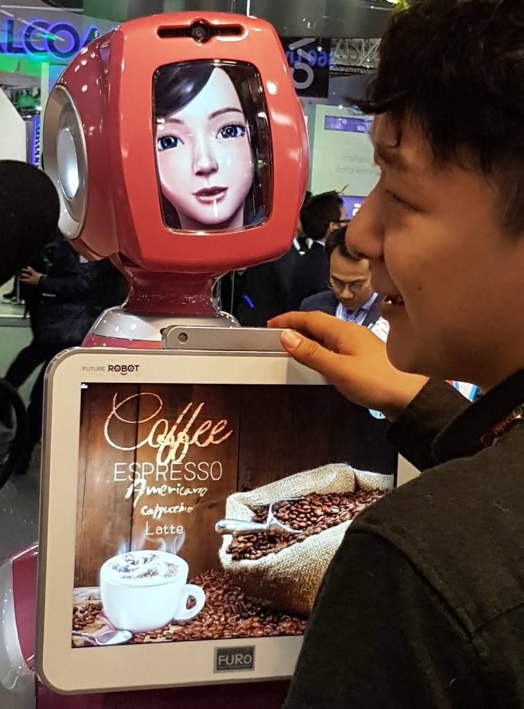 SKT's Slightly Creepy Coffee Robot